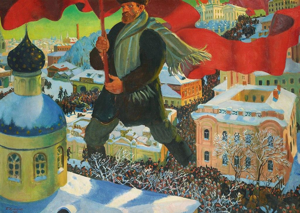 The Bolshevik – Boris Kustodiev (1920)